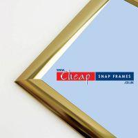 A4 Shiny Gold Snap Frame 25mm