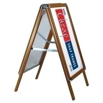 A0 Oak Wood Effect A-board
