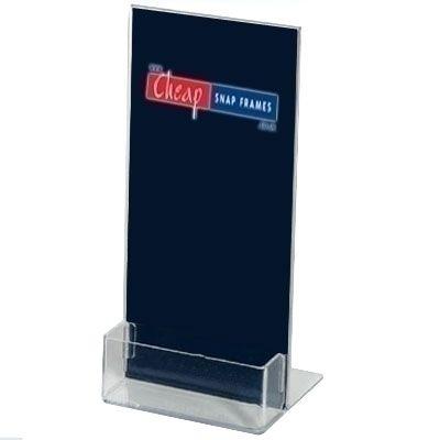 1/3 A4 Sign Holder Business Card Dispenser