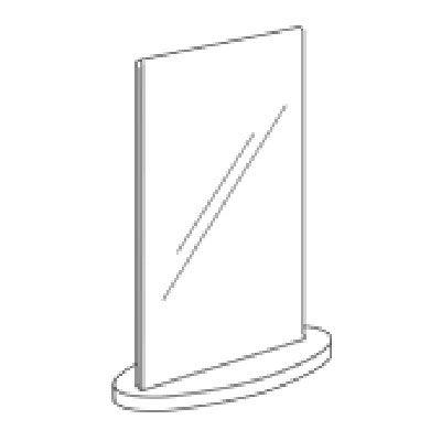 A5 Oval Acrylic Double Sign Holder