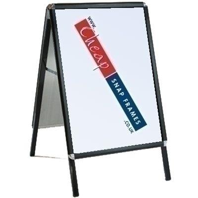 30 inch x40 inch Black A-board