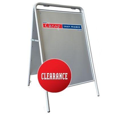 Clearance A1 Grey Rectangular A-board