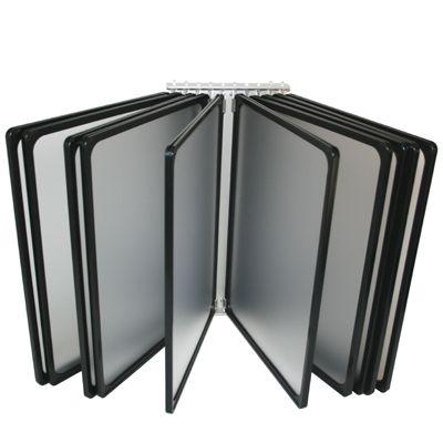 A3 Wall Mounted Black Flip Display 10-pocket