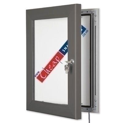 A4 Slate Grey LED Outdoor Edgelit Lightbox