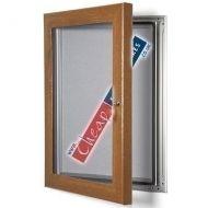 A4 Oak Wood Effect Grey Pinboard