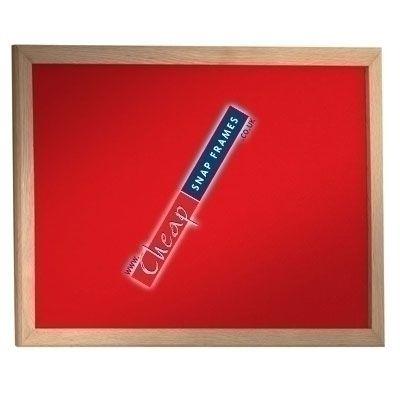 1800mm x 1200mm Beech Red Felt Pinboard Class 1