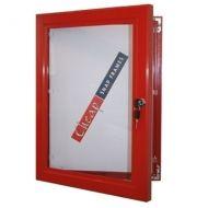 Red Lockable Notice Boards