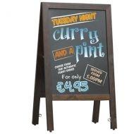 Large Chalk Board Pavement Sign