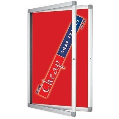 Budget Medium Red Lockable Pin Board