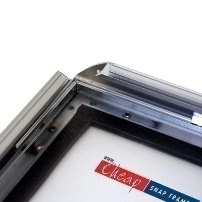 A4 Waterproof Silver Snap Frame 25mm