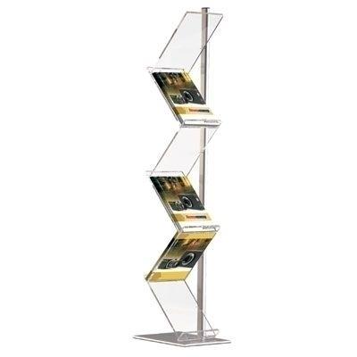 Tall Zig Zag A4 Literature Stand